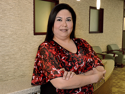 Colorectal cancer patient Corina Ramirez.