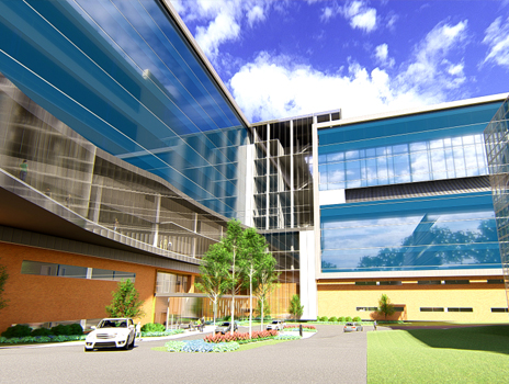 Cancer Center Research Building Rendering