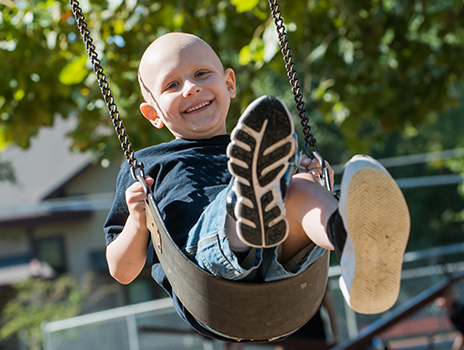 Sarcoma patient Wyatt Oshel.